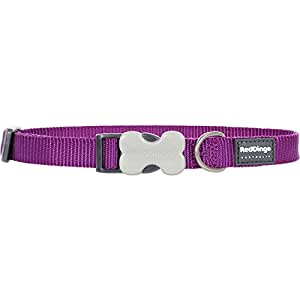 Red Dingo Classic Dog Collar, Small, Purple