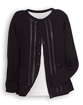 National Classic Cardigan Sweater, Black, Small