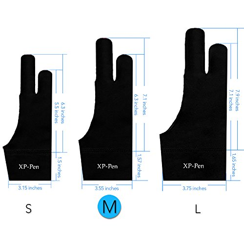 xp-pen-drawing-anti-fouling-lycra-graphics-two-finger-glove-s-m-l-size-m