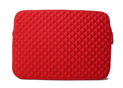 Kroo Red Diamond Effervescence Splash & Shock Resistant Carrying Extend over Case for 11.6-inch Sony VAIO Pro SVP11213CXB 11.6-Inch i5 Touchscreen Ultrabook Carbon