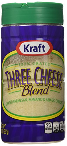 Kraft Grated Parmesan, Romano & Asiago, 8 Ounce Cannister (Pack of 2) (Kraft Grated Romano Cheese compare prices)