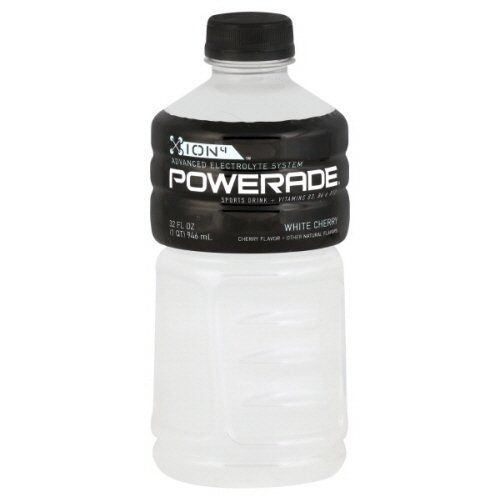 Powerade White Cherry Ion4 Sports Drink 12 Pack (049000054569)