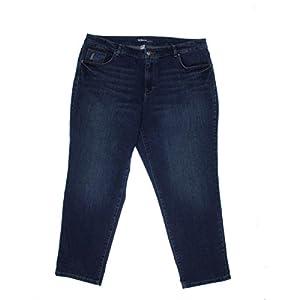 Style & Co. Womens Plus Curvy Boyfriend Ankle Jeans Blue 20W