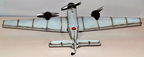 Junkers JU - 52 Aircraft To Aircraft Metal Plate Metal Model of 1930 2, WK 34 x 52 cm 37230 Vintage Tin Model Tarp Approximately