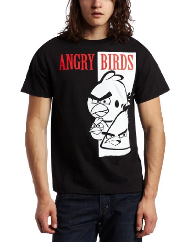 Angry Birds Bird Face Scarface Spoof Men&#8217;s T-Shirt
