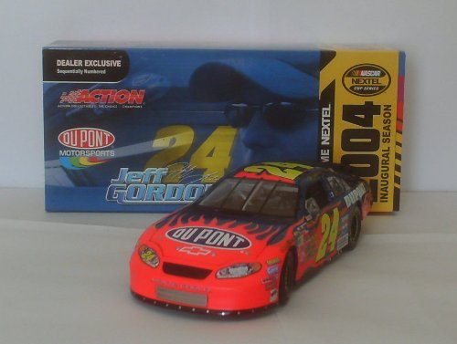 2004-nascar-nextel-inaugural-dealer-exclusive-jeff-gordon-24-flamed-dupont-124-scale-monte-carlo-lim