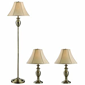 pack 1 floor lamp 2 table lamps home kitchen. Black Bedroom Furniture Sets. Home Design Ideas