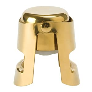 True Fabrications Champagne Stopper, Gold, Set of 2