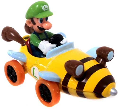Mario Kart Tomy Ertl Mini Figure Luigi in Bee Kart