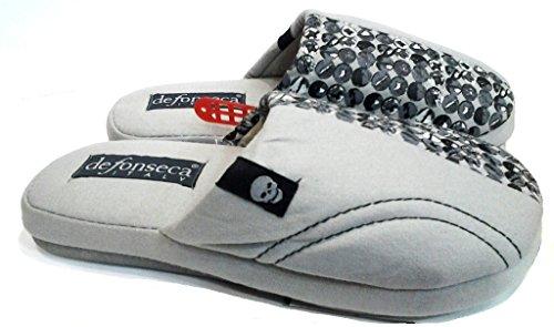 DE FONSECA pantofole ciabatte cotone da ragazzo mod. BULLONE grigio chiaro (37/38)
