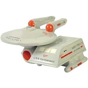 Westland Giftware Star Trek Magnetic Enterprise and Shuttle Salt and Pepper Shaker Set, 2-Inch