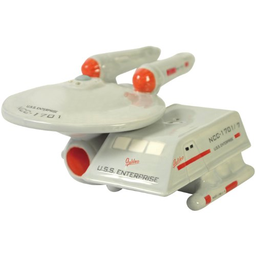 Star Trek Enterprise & Shuttle - Salt and Pepper Shakers