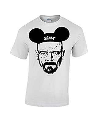 Crazy Bros Tee's Walt Mickey White - Breaking Pinkman Bad AMC Heisenberg Parody Men's T-Shirt