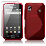 SAMSUNG GALAXY ACE S5830 RED GEL SKIN CASE / COVER, WITH SCREEN PROTECTORby CELLAPOD