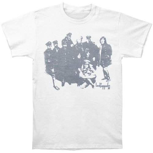 Led Zeppelin Men'S B&W Number Ii Slim Fit T-Shirt Medium White