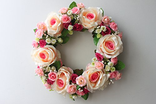 Large Blooming Flower wreath handmade home wall wedding decor