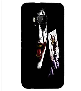 PrintDhaba Joker D-2271 Back Case Cover for HTC ONE M9S (Multi-Coloured)