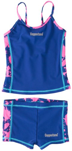 Coppertone Floral Tankini Shorts Swimsuit