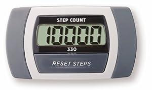SPORTLINE Schrittzähler mit Schritt/Entfernungszählung, schwarz grau, 6 x 3,5 x2,5 cm