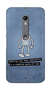 Amez designer printed 3d premium high quality back case cover for Motorola Moto X Style (Futurama Bender)