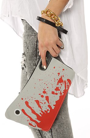 Accessories Boutique Women's The Cleaver Clutch One Size Grey
