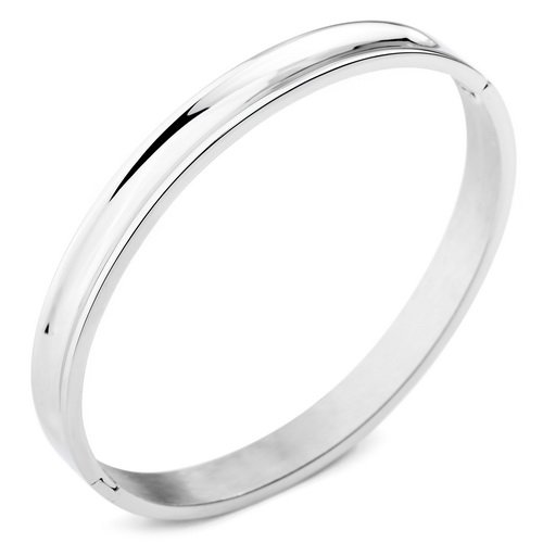 Justeel Jewellery Stainless Steel Bracelet Bangle Cuff Men Unisex Silver