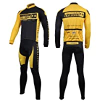 2012 Style Cycling Jersey Set Long Sleeve Jersey Tenacious Life/perspiration Breathable (XXL)