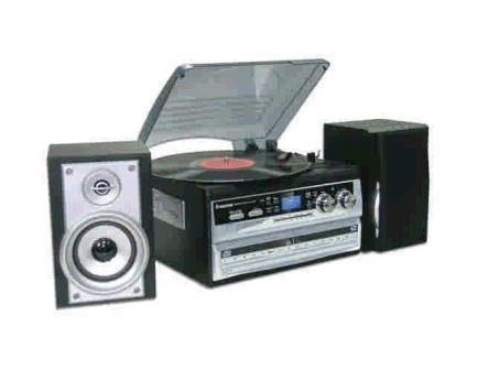 Steepletone SMC595 Silver - NOSTALGIC RETRO 5-IN-1 MUSIC SYSTEM WITH CD BURNER/ Vinyl to CD Black Friday & Cyber Monday 2014