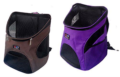 Dog Cat Backpack Shoulder Bag Pet Pack Backpack Small Size (Purple)