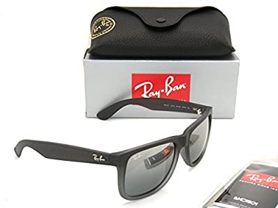 Ray-Ban Justin RB 4165 852/88 55mm Rubber Grey / Grey Silver Mirror Gradient