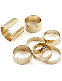 Vezoora Knuckle Stack Urban Plain Finger Band Midi Rings -SET OF 7 PIECES