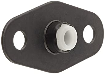 "Spyraflo BFM-187-A Self-Aligning, Delrin Acetal Plastic Bearing With 2-Bolt Hole, 3/16"" Inner-Diameter Steel Flange"
