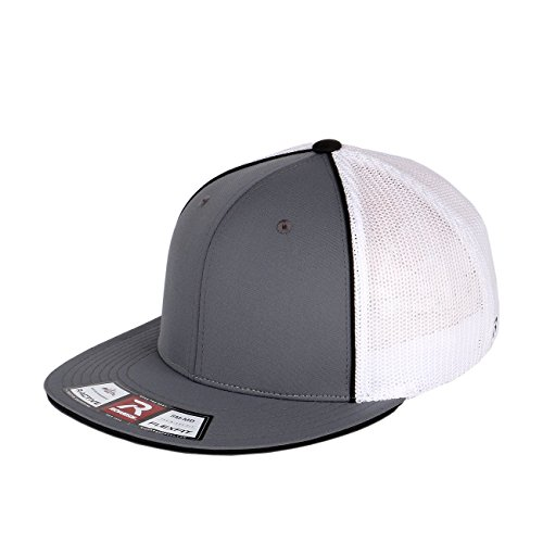 Richardson Flatbill Pulse Mesh Fitted with Piping Details (Charcoal Black White-Large/X-Large) (Richardson Baseball Caps compare prices)