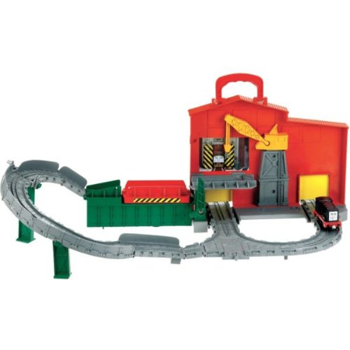 [HSB Bundle+] Thomas Take-n-Play Diesel Works Playset with accompanying Micro Solar-Powered Car