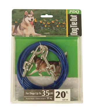 Warren Pet Products 20ft Tie-Out Cable for Medium To Large Dogs