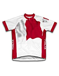 Malta Flag Short Sleeve Cycling Jersey for Women