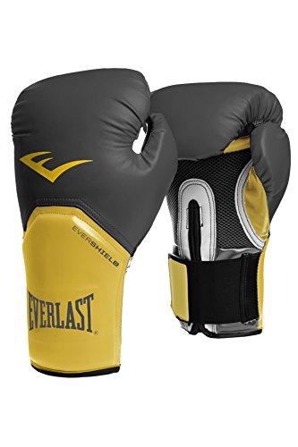 Everlast Elite - Guantoni da boxe, grigio / giallo, 16 once