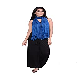 Dream Fashion Designer Fringes Stone Work Shawls royal blue for women