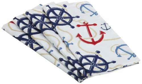 DII Anchors Away Nautical Printed Cloth Napkin, Set of 4