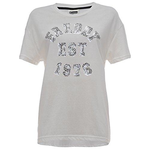 Freddy F6Wtct2 T-Shirt, Donna, Bianco Sporco (Off White), Medium (Taglia Produttore:M)