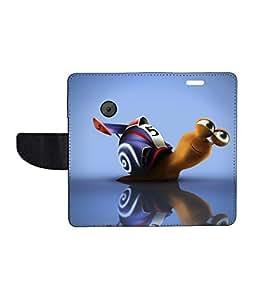 KolorEdge Printed Flip Cover For Motorola Moto E2 - Multicolor