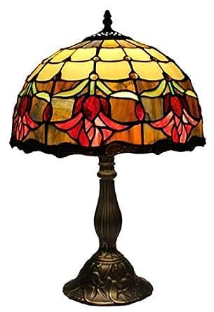 amora lighting tiffany style tulips table lamp. Black Bedroom Furniture Sets. Home Design Ideas