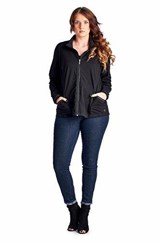 Women 39 S Plus Size Active Workout Jackets 1x Black