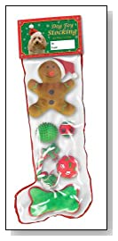 Kyjen Holiday MultiPack Dog Toys Stocking Small