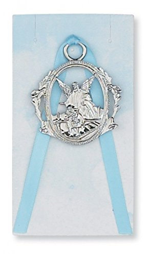 Blue Carded Guardian Angel Crib Medal