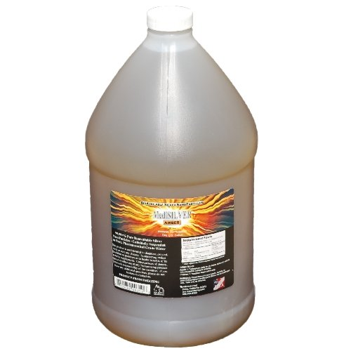 MediSILVER AMBER (20 ppm Traditional Colloidal Silver) - 1 U.S. Gallon