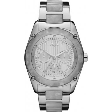Armani Exchange AX5076 Ladies Marble Acetate Links Watch