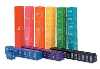 2x Learning Resources Fraction Tower Equivalency Cube