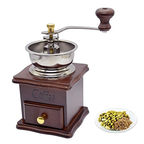 XHSP Vintage Mini Manual Coffee Grinder Wooden Hand Coffee Mill Herbal Medicine Grinding Machine 1