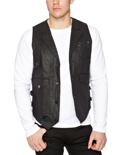 Goldspun Gentlemans Men's Vest Black Large
